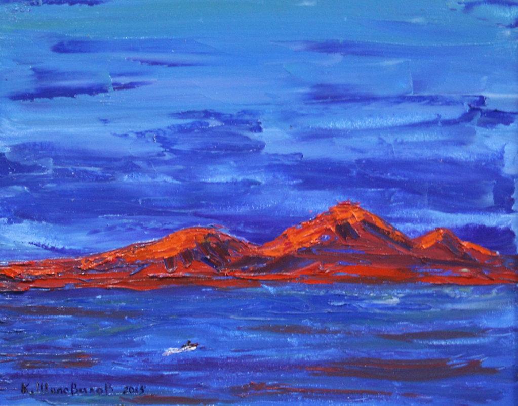 Горы на закате