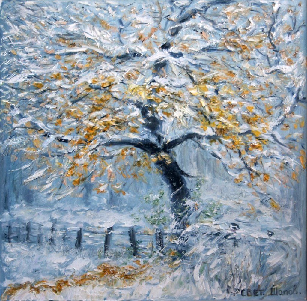 Ранний снег на золоте осени