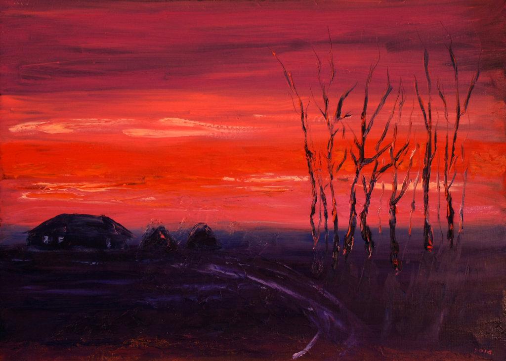 Красный закат 4